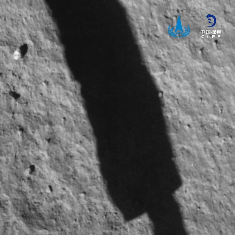 Chang'e landing probe on moon