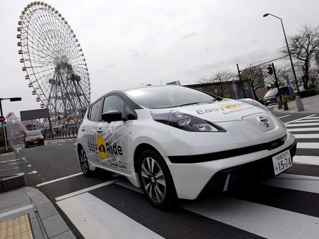 Nissan to begin testing driverless taxi service in direct ...
