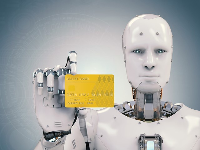 Robot with a credit card. No, really.