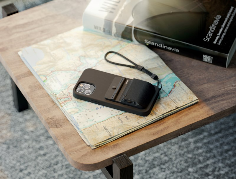 Fjorden Grip camera accessory for iPhone - on the map - inline