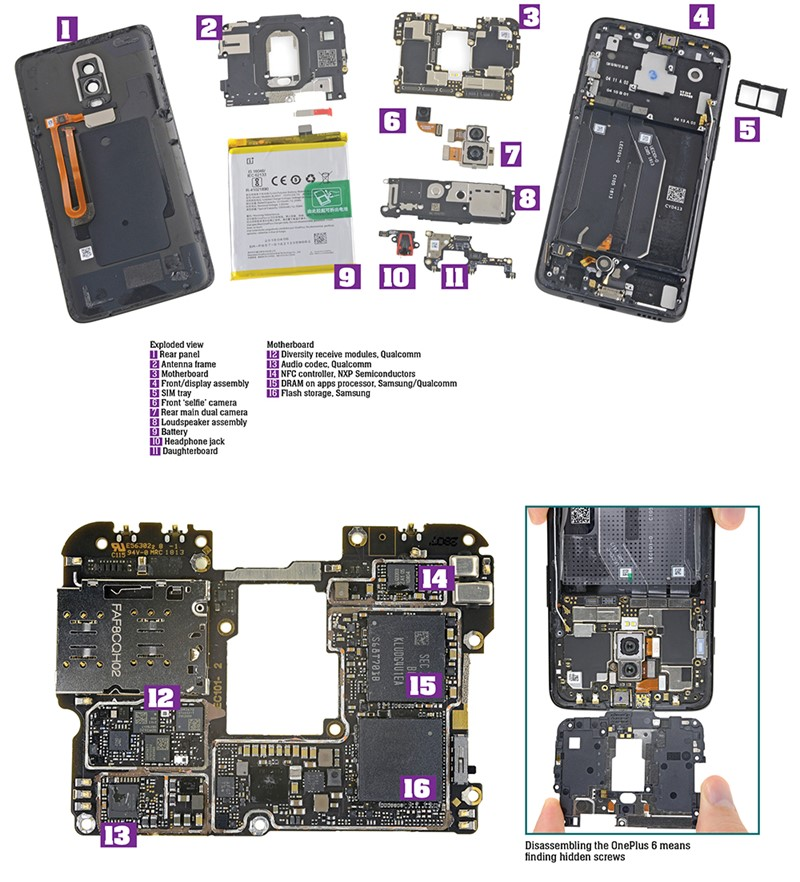 Teardown: OnePlus 6 smartphone | E&T Magazine