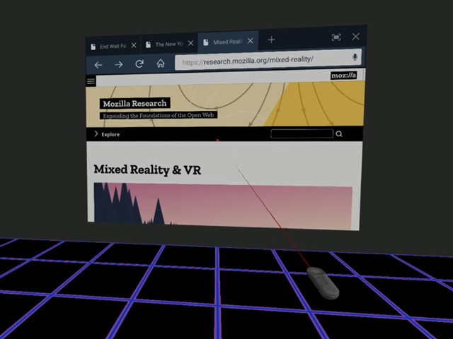 aaf83e0bd63e Mozilla reveals VR version of its Firefox browser